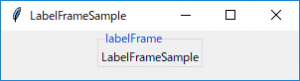 LabelFrameSample